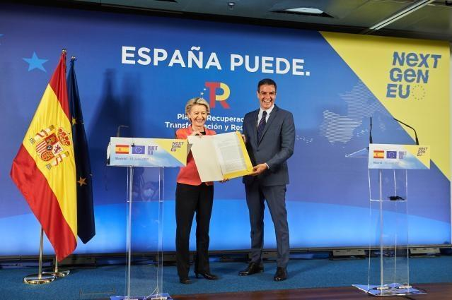 Visit of Ursula von der Leyen, President of the EC, to Spain